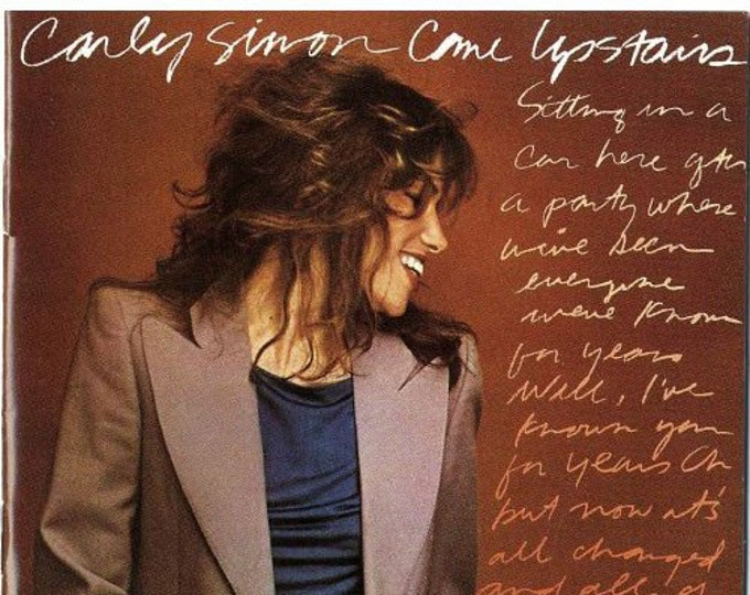 Carly Simon Vinyl LP! Authentic Vintage 1980! Carly Simon ~ Come Upstairs Warner Bros. Records BSK 3443 Near Mint Vinyl