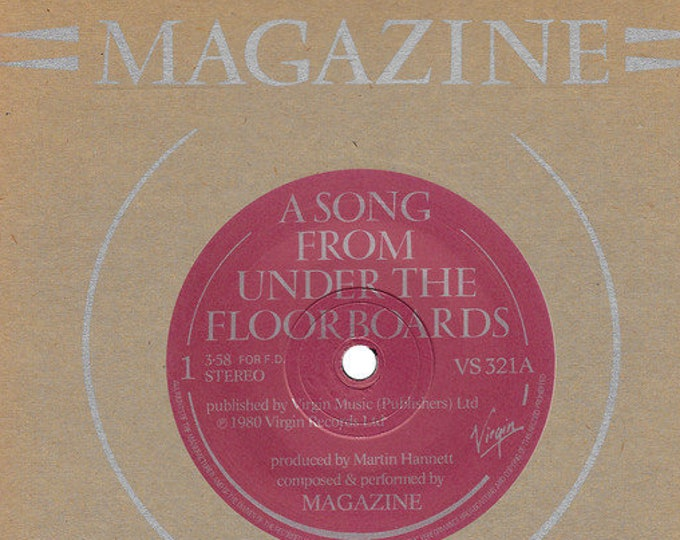 "Magazine 7"" Vinyl Record UK Import! Authentic Vintage 1980! Magazine A Song From Under The Floorboards/20 Years Ago Virgin Records VS 321 NM"
