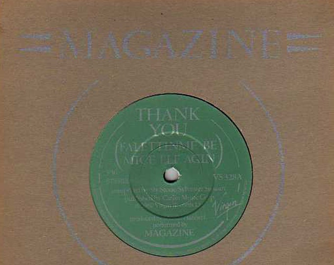 "Magazine, 7"" Vinyl Single, UK & Ireland Import! Authentic Vintage 1980! Magazine, Vinyl Record, ""Thank You (Falettinme Be Mice Elf Again}!NM"