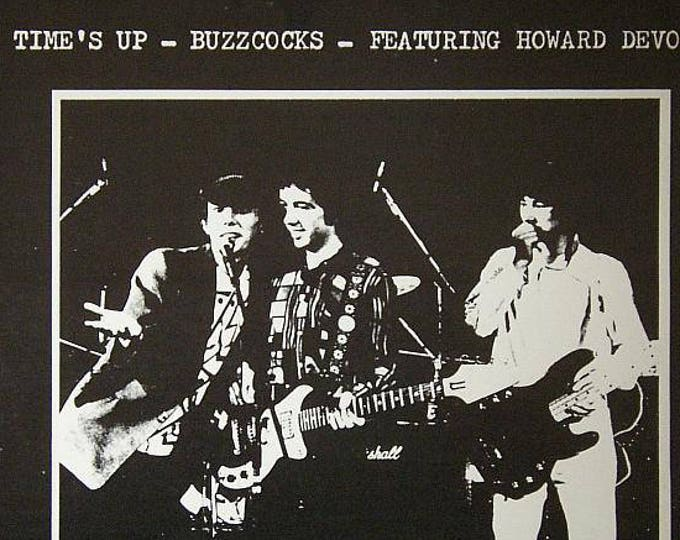 Buzcocks~Vinyl Record EP Venezuelan Import! Authentic Vintage 1978! Buzzcocks~Featuring Howard DeVoto Time's Up RARE Indy Record Near Mint