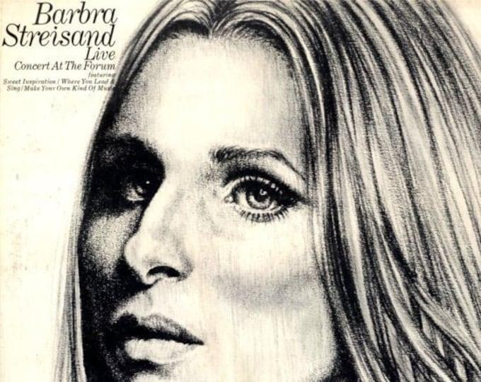 Barbra Streisand Vinyl Album Gatefold Sleeve! Authentic Vintage 1972! Barbra Streisand Live Concert At The Forum Los Angeles April 15, 1972