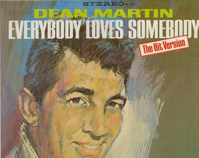 "Dean Martin, Vinyl Record Album! Authentic Vintage 1964! ""Everybody Loves Somebody-The Hit Version"" Classic Dean Martin! Vinyl VG+/Sleeve VG"
