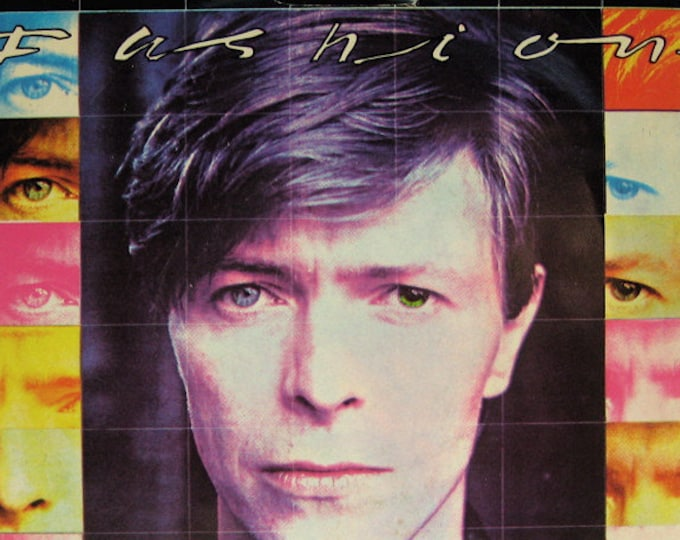 """David Bowie, 7"""" Vinyl Record, US Release! Authentic Vintage 1980! David Bowie ~ """"Fashion"""" From The """"Scary Monsters"""" Album! Near Mint Vinyl!"""