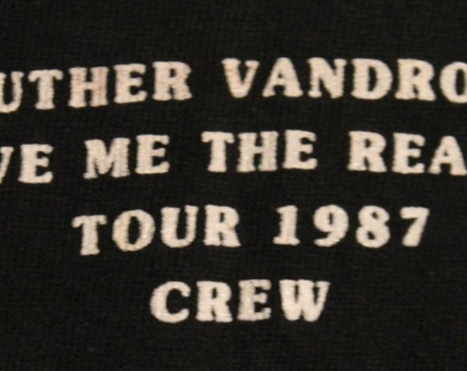 Luther Vandross T Shirt Crew RARE! Authentic Vintage 1987 T Shirt! Luther Vandross ~ Give Me The Reason Tour CREW T Shirt ~  Hanes Size XL**