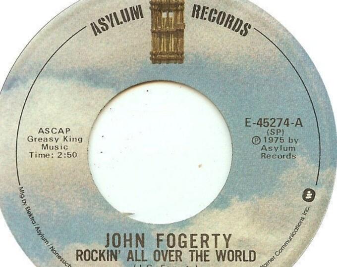 "John Fogarty, 7"" Vinyl Single, 45RPM, Specialty Records Pressing! Authentic Vintage 1975! John Fogarty""Rockin' All Over The World""! VG Vinyl"