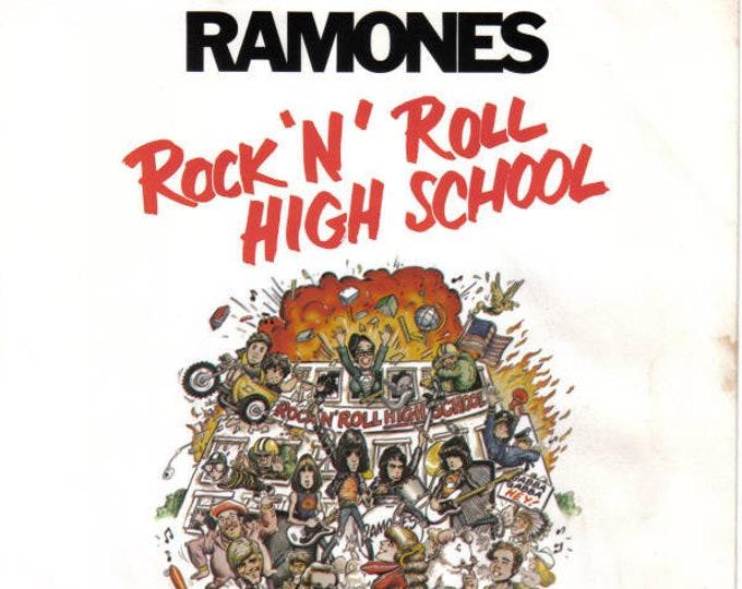 "Ramones 7"" Vinyl Single! Authentic Vintage 1979! Ramones ""Rock N Roll High School / Do You Wanna Dance (Live Version) Sire SRE 1051 NM Vinyl"