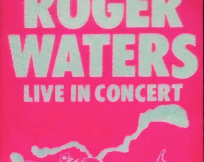 """Roger Waters (Pink Floyd), Satin Backstage Pass RARE! Authentic Vintage 1985! Roger Waters,""""Pros & Cons Of Hitchhiking Tour '85"""" , Unused!"""