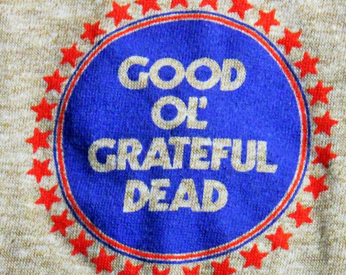 SACRIFICE! Grateful Dead T Shirt! Official Crew Vintage 83! The Grateful Dead~Good 'Ol Grateful Dead Ringer T Shirt MSG Shows NYC! Size M