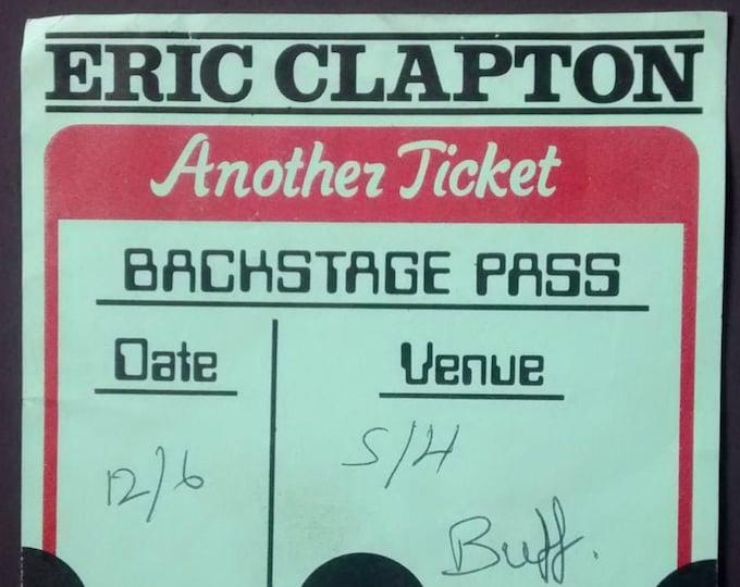 "Eric Clapton, Backstage Pass! Authentic Vintage 1982! Eric Clapton ""Another Ticket Tour"" Backstage Pass!Cream! Blind Faith! Derek & Dominos!"