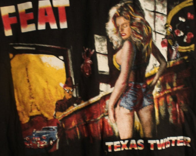 """Little Feat, Band T Shirt! Authentic Vintage 1990!Little Feat,""""Representing The Mambo Tour""""! Album Featured""""Texas Twister"""" #1 Hit! Like New!"""