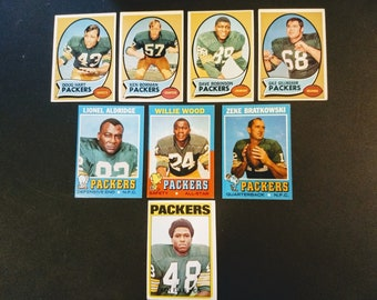 Green Bay Packers Topps Football Cards! Authentic Vintage 1970-72! Packers Football Cards Rookie Card, Hall Of Famers, All Star! Originals!