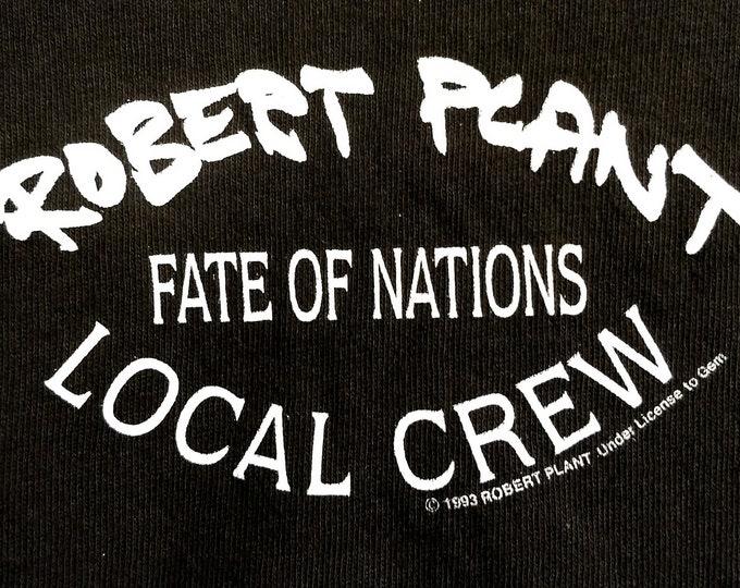Robert Plant, Band, Tour T Shirt, Tech Crew! Authentic Vintage 1993!Robert Plant, Led Zeppelin, Concert Tour, Band T Shirt! Exclusive Crew T