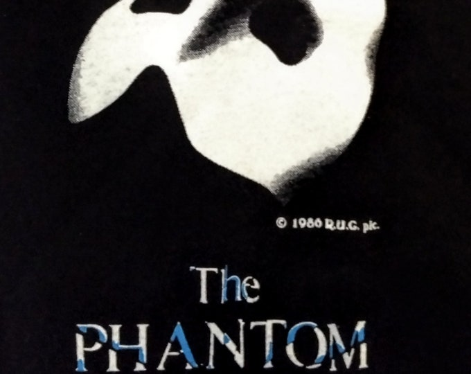 Phantom, Broadway Original T Shirt!Authentic Vintage 1986!Phantom Of The Opera Licensed Vintage T Shirt From Broadway! Never Worn! Like New!