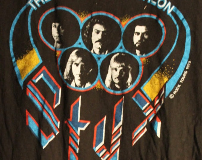 STYX Vintage Concert T Shirt! Authentic Vintage Band Tee Shirt 1979! Styx ~ The Grand Decathlon Tour 1979 Size Small! Never Worn! Like New