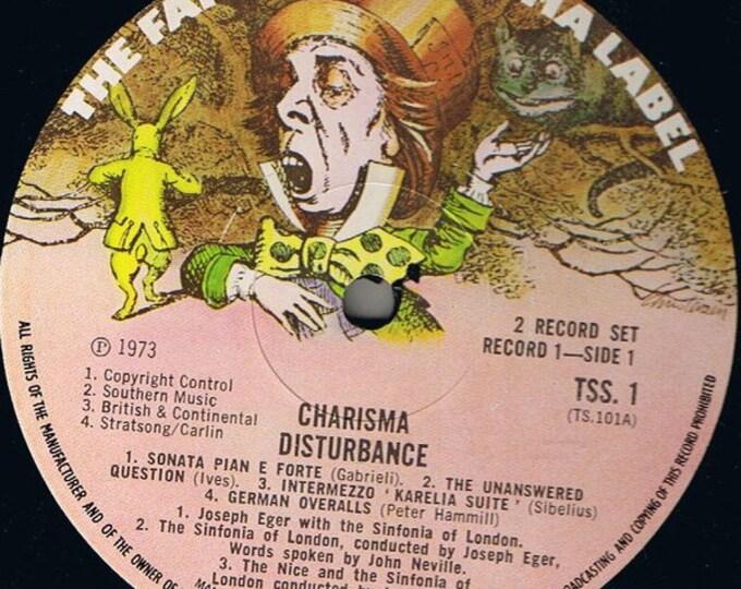 "Genesis, The Nice,Vinyl LP's X2, Compilation 70's Prog Music! Authentic Vintage 1973! Charisma Records""Disturbance "",  Monty Python + 7 More"
