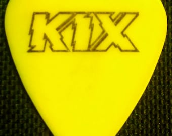 Kix ~  Brian 'Damage' Forsythe Guitar Pick! Authentic Vintage 1980s! Brian 'Damage' Forsythe Concert Used Guitar Pick! Hard To Find! Scarce!