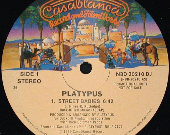 "Platypus Vinyl 12"", DJ Promo! Authentic Vintage 1979!Platypus ""Street Babies"" 70s Disco DJ Promo 12"" Record In Unplayed Near Mint Condition!"