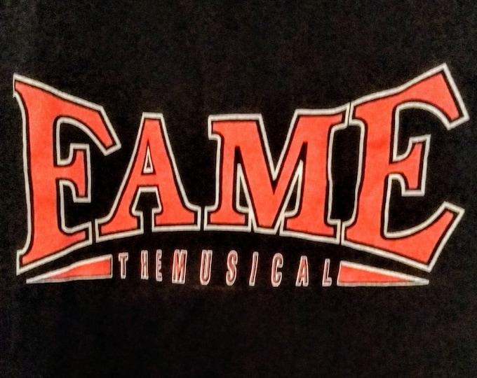 "Fame, T Shirt, Broadway TourMusical T Shirt! Authentic Vintage 1998! ""Fame The Musical"", Royal Alexandra Theatre, Toronto, Ontario! Like New"