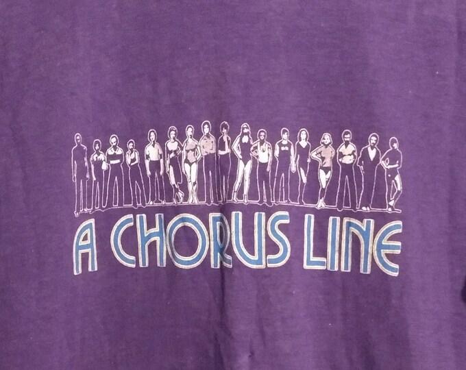 A Chorus Line Original Broadway T Shirt! Authentic Vintage 1981! A Chorus Line Michael Bennett Marvin Hamlisch! Vintage Shirt Excellent Cond