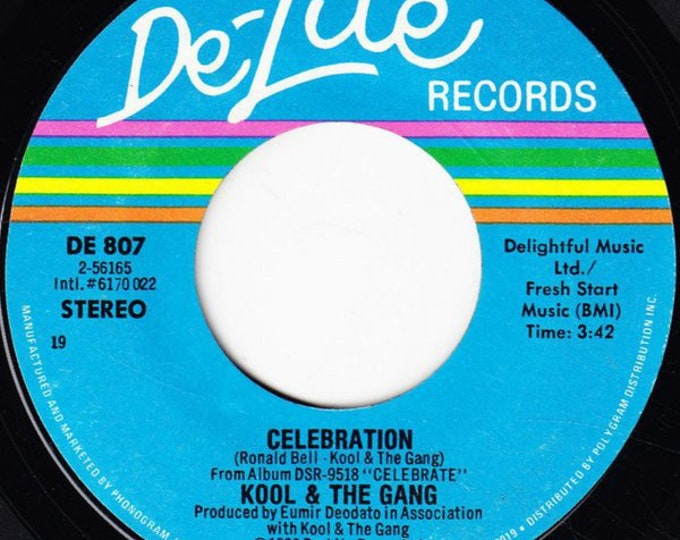 "Kool And The Gang, 7"" Vinyl Single! Authentic Vintage 1980! Kool And The Gang ""Celebration"" Original Classic Party Anthem! 45 RPM Record!VG+"