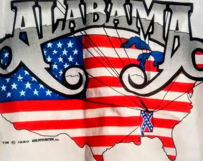 "Alabama Concert T Shirt RARE! Authentic Vintage 82 3/4 Sleeve Raglan Baseball T Shirt! Alabama  Mountain Music Tour 1982 Size**XL(42"" Chest)"