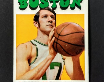 John Havlicek Topps NBA Trading Card! Authentic Vintage 1971-72! John Havlicek Boston Celtics Forward! NBA Hall Of Fame! Topps Card #35! EXC