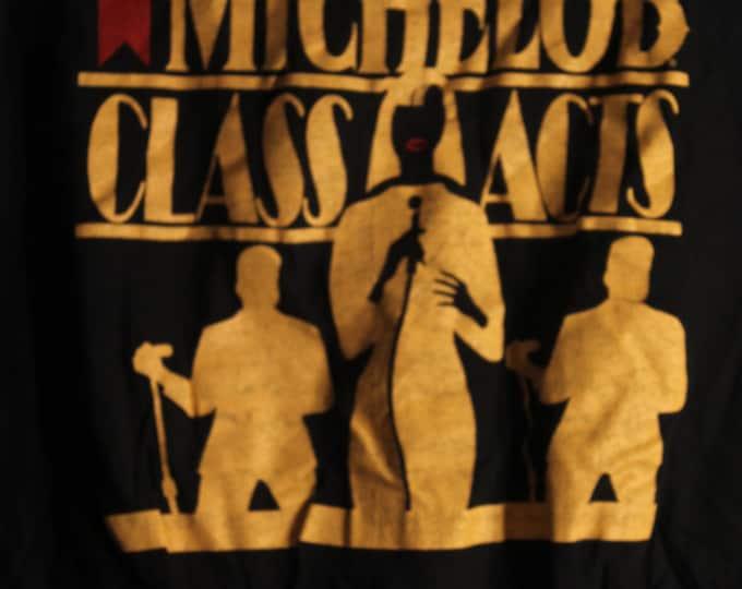 "Aretha Franklin /Smokey Robinson / Rick James Vintage T- Shirt! Michelob Class Acts ~ RARE!  Aretha Smokey Robinson Size XL 20.5 x 27"""