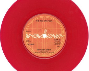 "The Red Crayola Red Vinyl 7"" UK Import! Authentic Vintage 1978! The Red Crayola ~ Wives in Orbit / Yik Yak Radar Records ADA 22  Unplayed/NM"