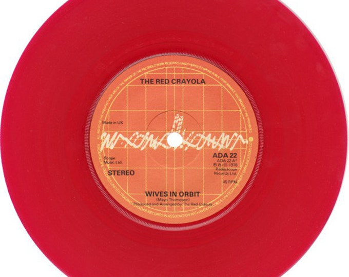 """The Red Crayola Red Vinyl 7"""" UK Import! Authentic Vintage 1978! The Red Crayola ~ Wives in Orbit / Yik Yak Radar Records ADA 22  Unplayed/NM"""