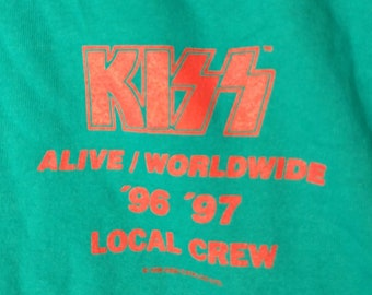 """KISS, Concert T Shirt, Licensed Original! Authentic Vintage 1996! Kiss, """"Alive / Worldwide Tour"""", Never Worn! Like New! Size XL"""