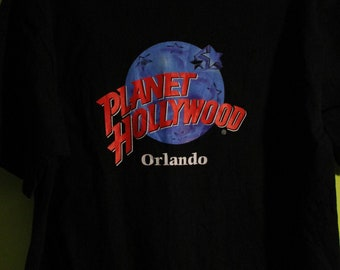 Planet Hollywood Vintage T Shirt From Orlando! Authentic Vintage '90! Planet Hollywood T Shirt Schwarznegger /Stallone /Willis! Like New! XL