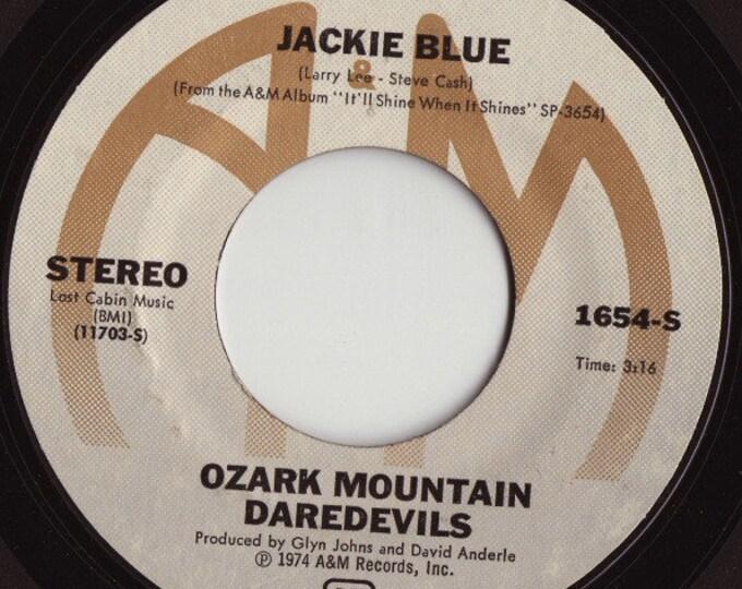 "Ozark Mountain Daredevils, 7"" Vinyl Single 45 RPM! Authentic Vintage 1974! Ozark Mountain Daredevils ""Jackie Blue""  Original A&M Vinyl 7""!"