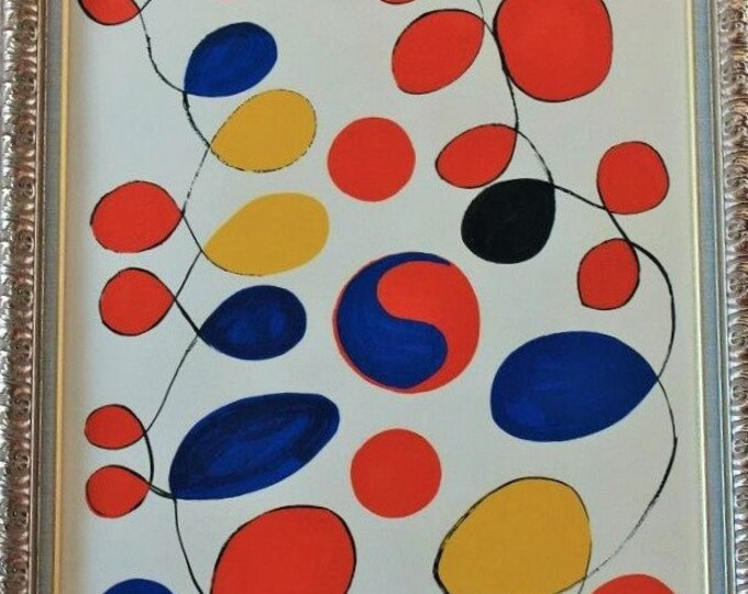 Alexander Calder Lithograph! Authentic Vintage 1971! Alexander Calder From The Series Entitled 'Peace' Archivally Framed FREE USA SHIPPING!!