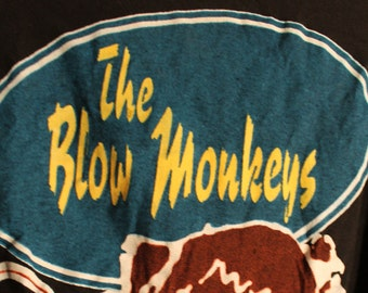 On Sale!! Blow Monkeys Concert T Shirt! ON SALE!! Authentic Vintage 1986 T Shirt! Blow Monkeys ~ Animal Magic Tour 1986 Size XL