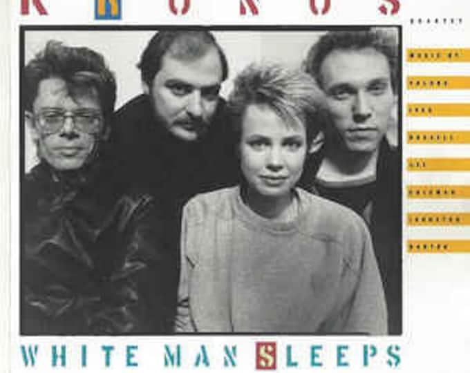 """Kronos Quartet, CD, US Release! Authentic Vintage 1987! Kronos Quartet """" White Man Sleeps""""! 4 Page Folded Booklet! Contemporary Classical!NM"""