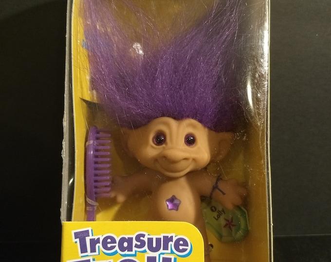 "Troll Doll 1st Edition Treasure Troll ""Lolly"" W/Wishstones! Authentic Vintage 1998! Treasure Troll Galoob Complete Unopened Box!"