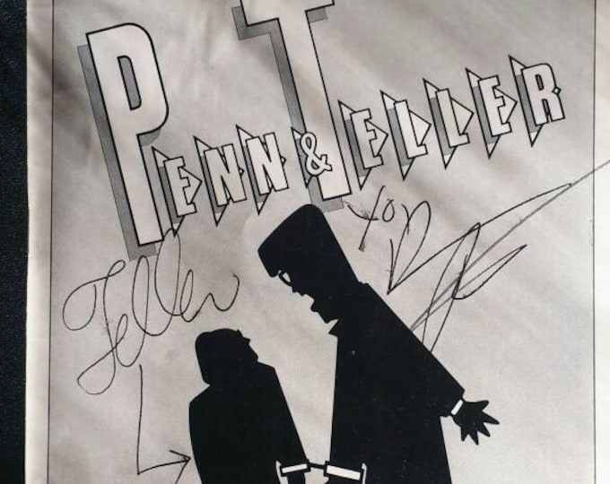 Penn & Teller Show Nov.1985! Autographed Showbill! Authentic Vintage 1985! Penn and Teller Westside Arts Theatre Downstairs November '85 NYC