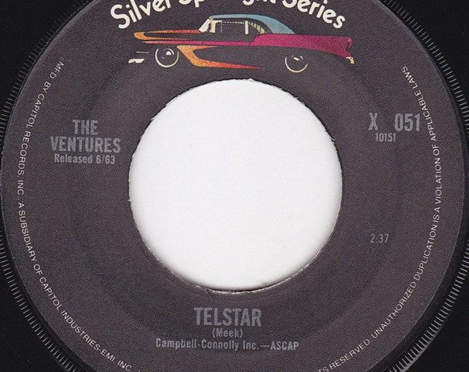 "The Ventures, 7"" Vinyl Single, 45 RPM! Authentic Vintage 1975! The Ventures ""Telstar / Perfidia"" Silver Spotlight Series 70's Reissue! NM"