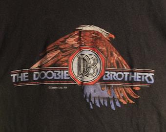 The Doobie Brothers Concert T Shirt RARE ORIGINAL! Authentic Vintage 1979! Doobie Bros. Minute By Minute Summer  Tour 1979! Size XSmall/SM!