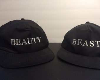 Disney's Beauty and the Beast Original Licensed Broadway Snapback Hats! Authentic Vintage 1994!  Disney's Beauty & The Beast Never Worn NM