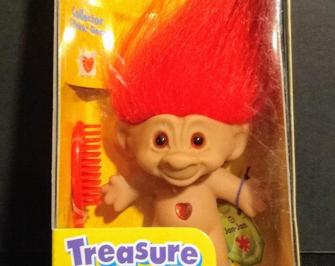 Troll Doll 1st Edition Treasure Troll Jan-Jan W/Wishstones! Authentic Vintage 1998! Treasure Troll Galoob Complete Unopened Box!Accessories!