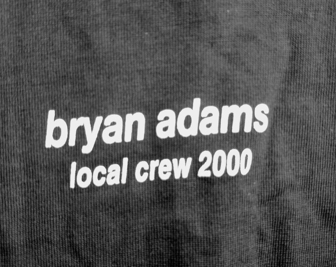 Bryan Adams RARE Crew T Shirt! Authentic Vintage 2000! Bryan Adams Crew T Shirt Massey Hall Toronto, Canada  January 12, 2000! Like New! XL