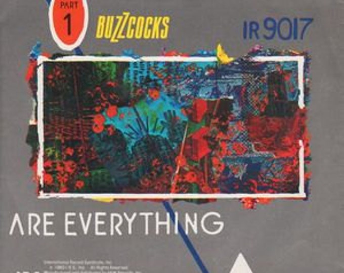 """Buzzcocks 7"""" Single! Authentic Vintage 1980! Buzzcocks ~ Are Everything I.R.S. Records IR 9017 Near mint"""