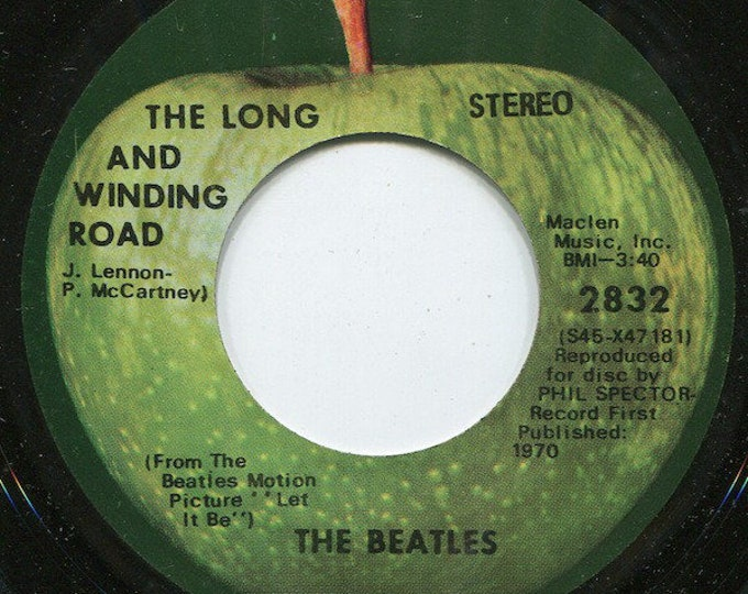 """The Beatles, 7"""" Vinyl Single, 45 RPM, Scranton,PA Pressing! Authentic Vintage 1970! The Beatles """"The Long And Winding Road"""",Apple Records!VG"""