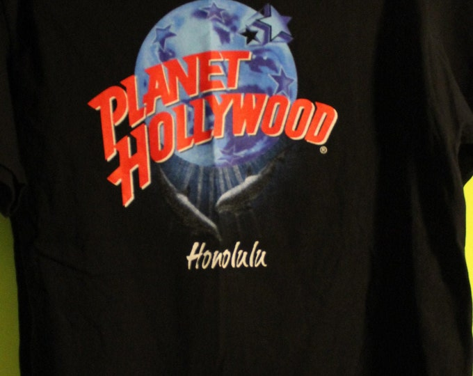 Planet Hollywood Vintage T Shirt From Honolulu! Authentic Vintage '90! Planet Hollywood T Shirt Schwarznegger /Stallone /Willis! Like New! M