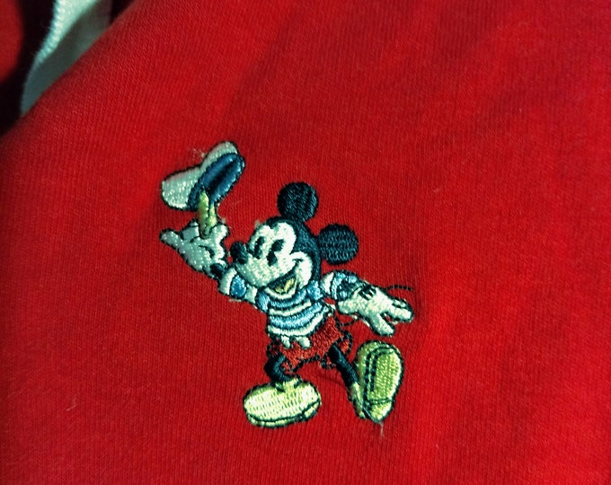 "Disney, Mickey Mouse, Embroidered Golf Shirt, Licensed Disney Shirt! Authentic Vintage 1990! Mickey Mouse, ""Sailor Mickey"", Golf Shirt!Small"