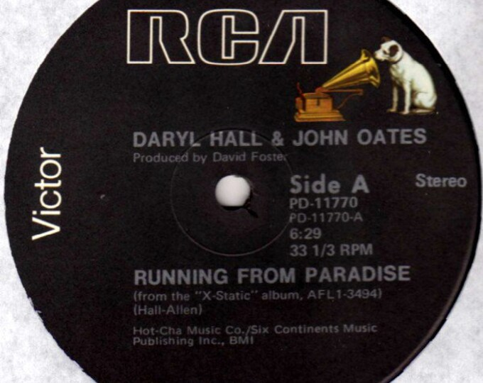 "Hall & Oates Record 12"" DJ Single! Authentic Vintage 1979! Daryl Hall And John Oates 12"" EP Plain Corporate Sleeve, Unplayed, Near Mint!"