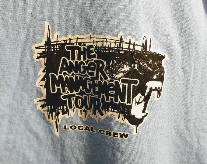 Eminem Limp Bizkit Papa Roach Crew T Shirt Anger Management Tour!Authentic Vintage 2000! Eminem 50 Cent Limp Bizkit Papa Roach!RARE Like New