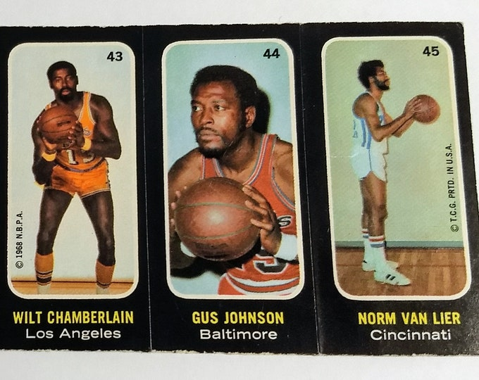 Topps Trio Stickers,Wilt Chamberlain, Elvin Hayes, DeBusschere! Authentic Vintage 1971-72! Topps Basketball Stickers, 9 Stickers Total! RARE