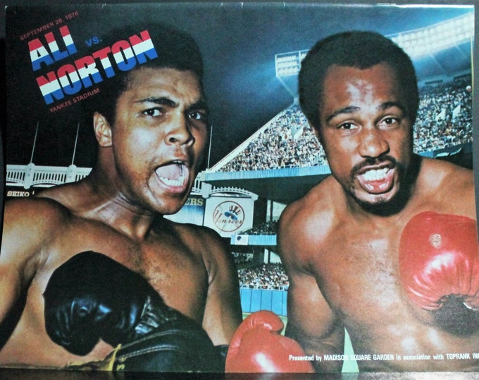 Muhammad Ali Ken Norton Vintage Boxing Program! Yankee Stadium September 28, 1976! Authentic Vintage Program! Ali ~ Norton  Vintage Magazine